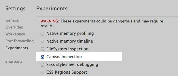 Canvas Inspection using Chrome DevTools - HTML5 Rocks
