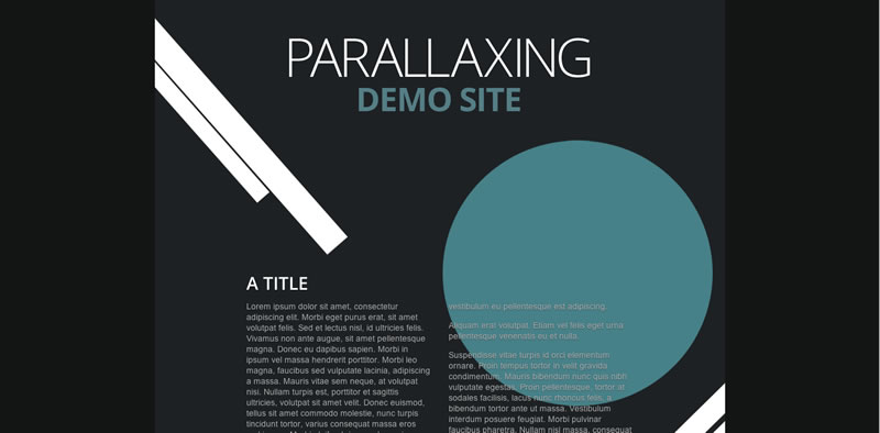 A demo parallax page