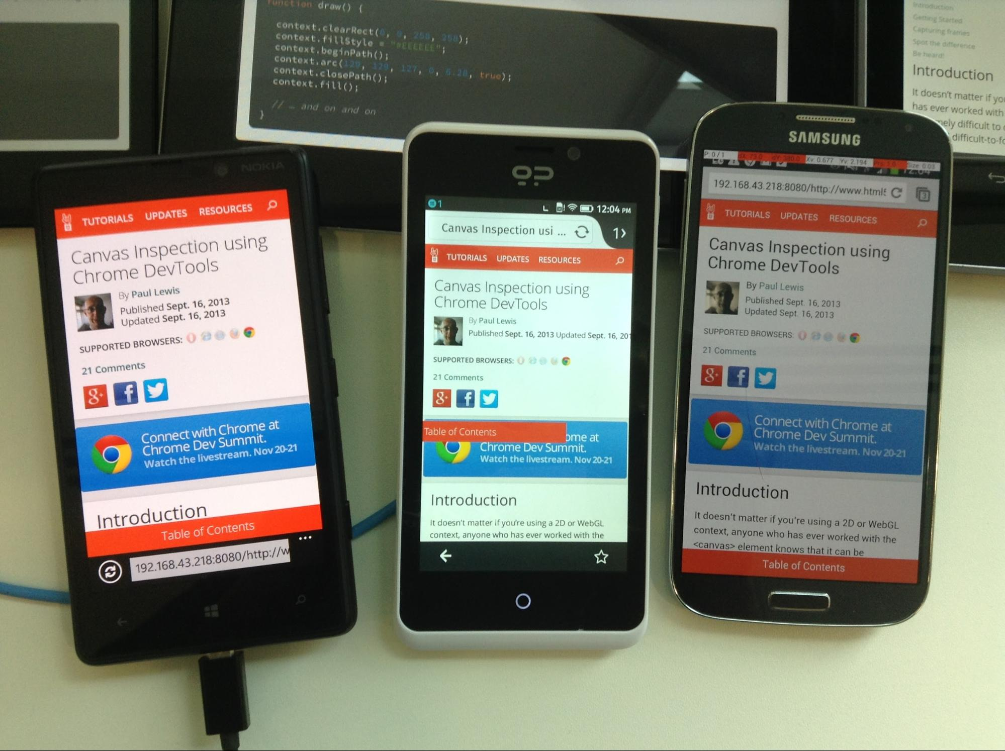Synchronized Cross-device Mobile Testing - HTML5 Rocks